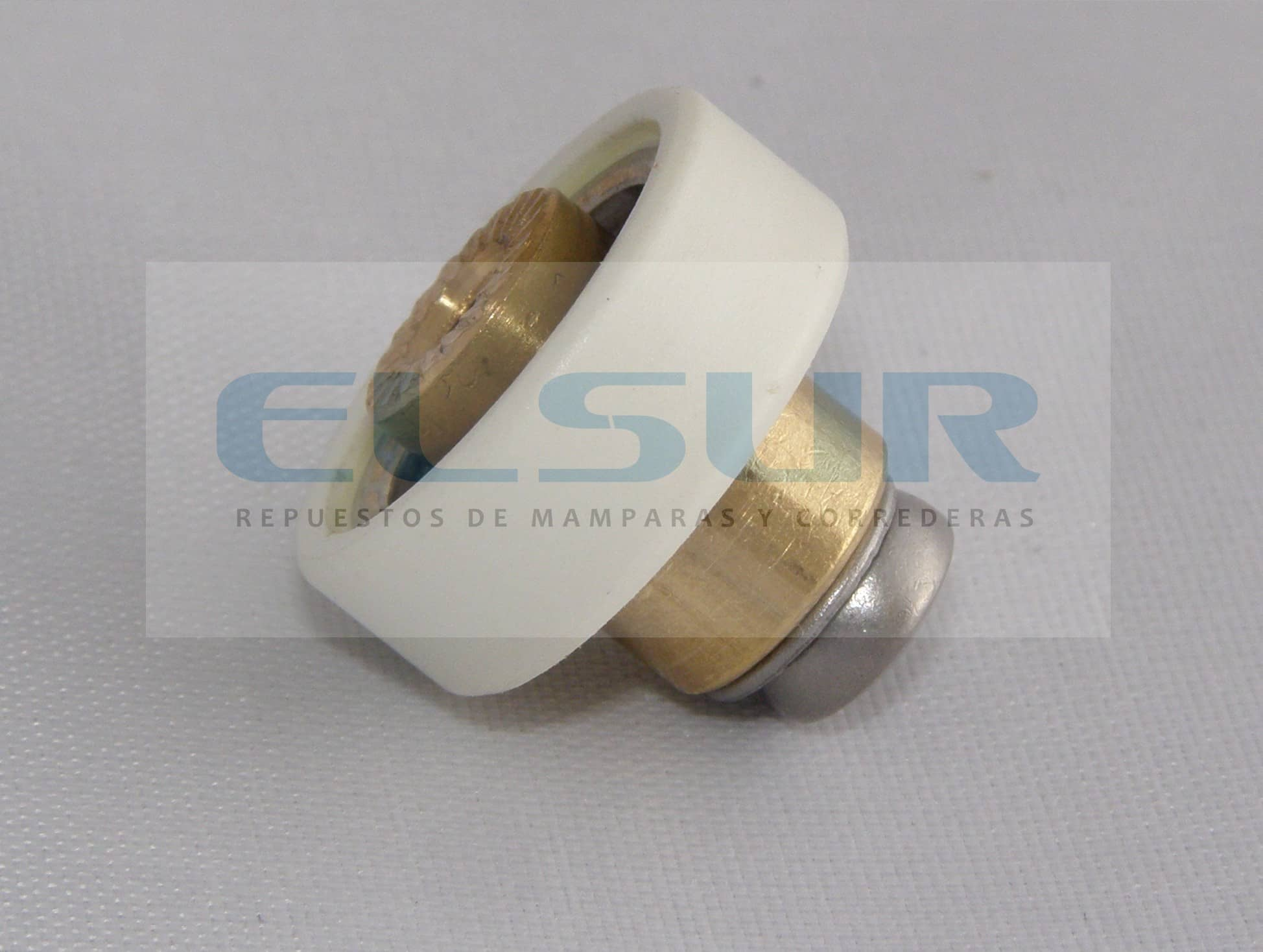 Pista lisa 19mm casquillo 6mm tornillo 4×12 inox