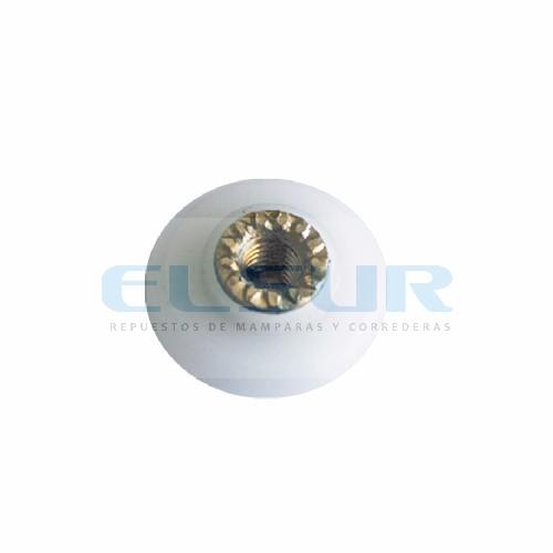 Rodamiento frontal 16 mm nylon métrica 4×8