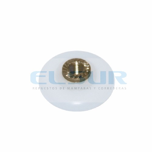 Rodamiento frontal 20 mm Triana nylon, con tornillo 4×8