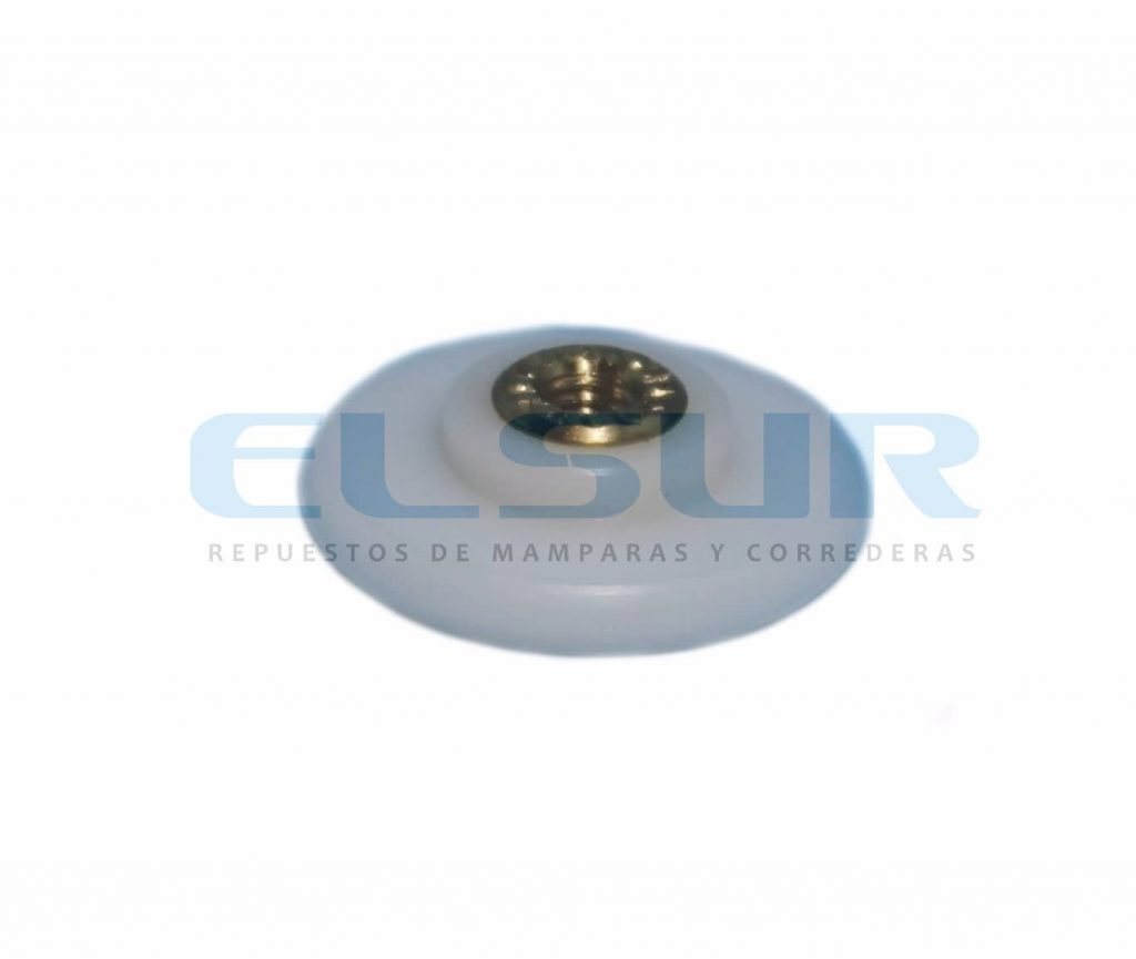 Rodamiento Frontal 24 mm nylon con tornillo 4X8