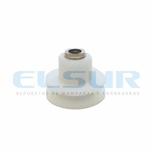 Rodamiento semicircular 25 mm nylon struperfil con tornillo 5×10