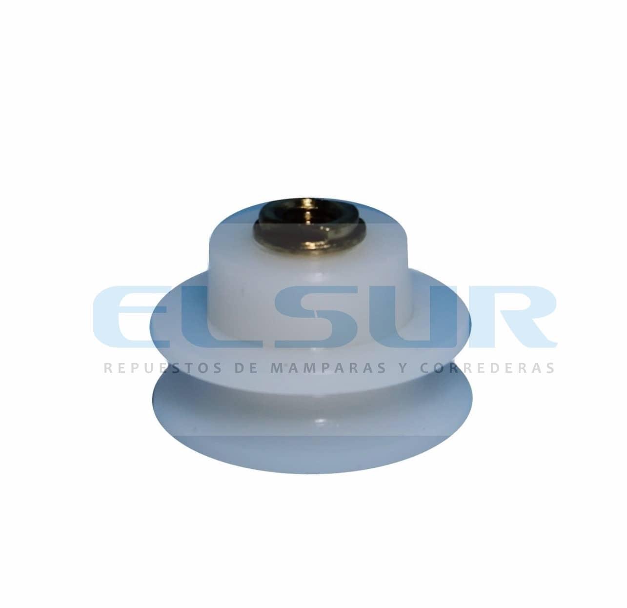 Semicircular cuello corto 25mm nylon con tornillo 5 X 8