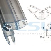 Imán mampara 90 grados caja 6/8 mm X 2 m