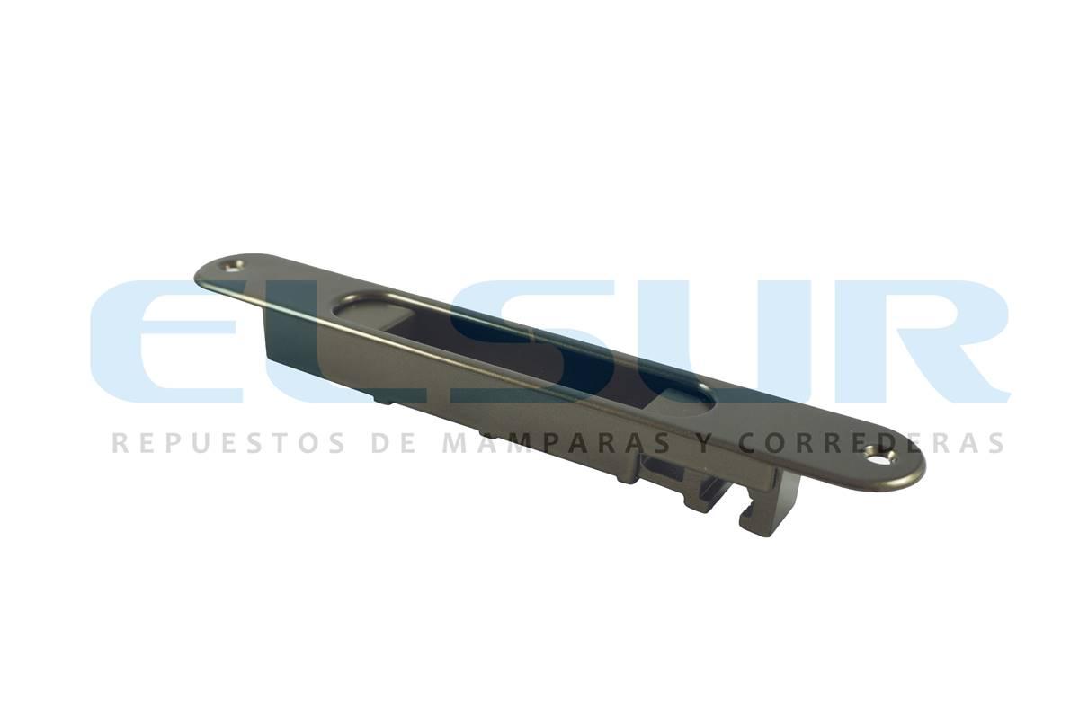 Cierre embutido estrecho aluminio bronce con gatillo y condena