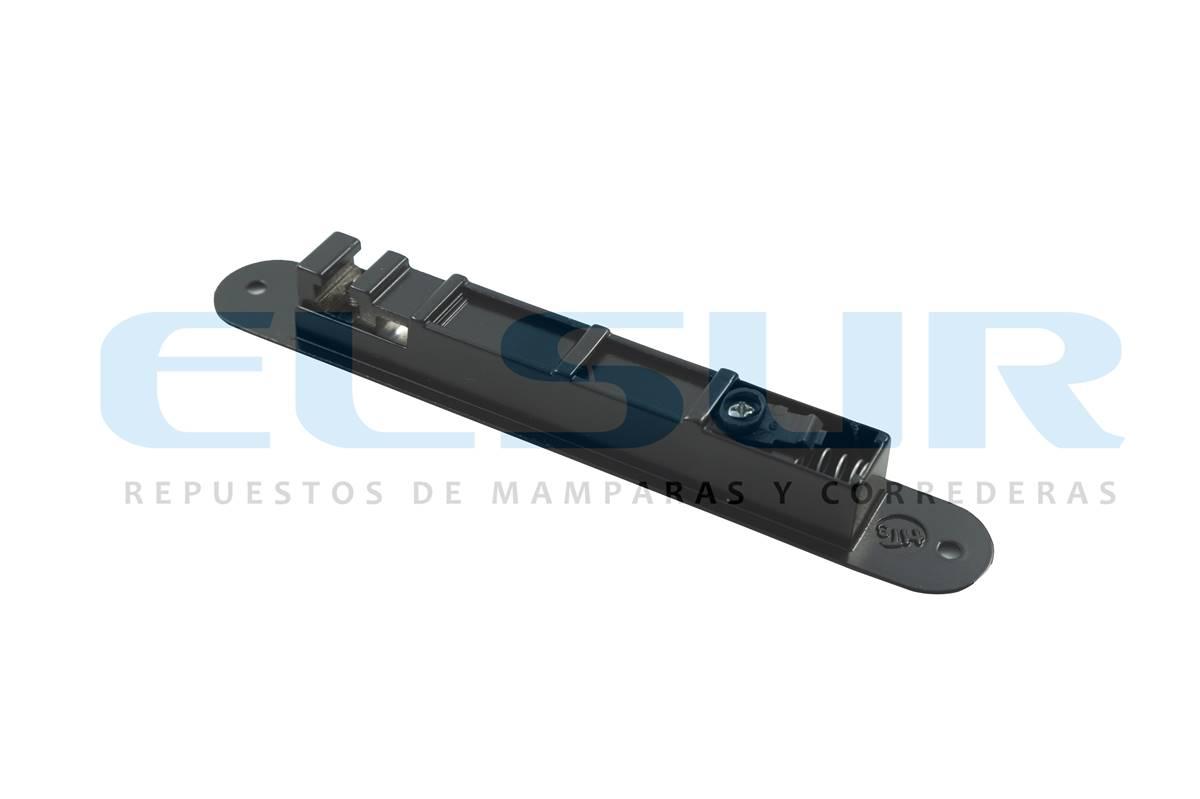 Cierre embutido estrecho aluminio negro con gatillo y condena