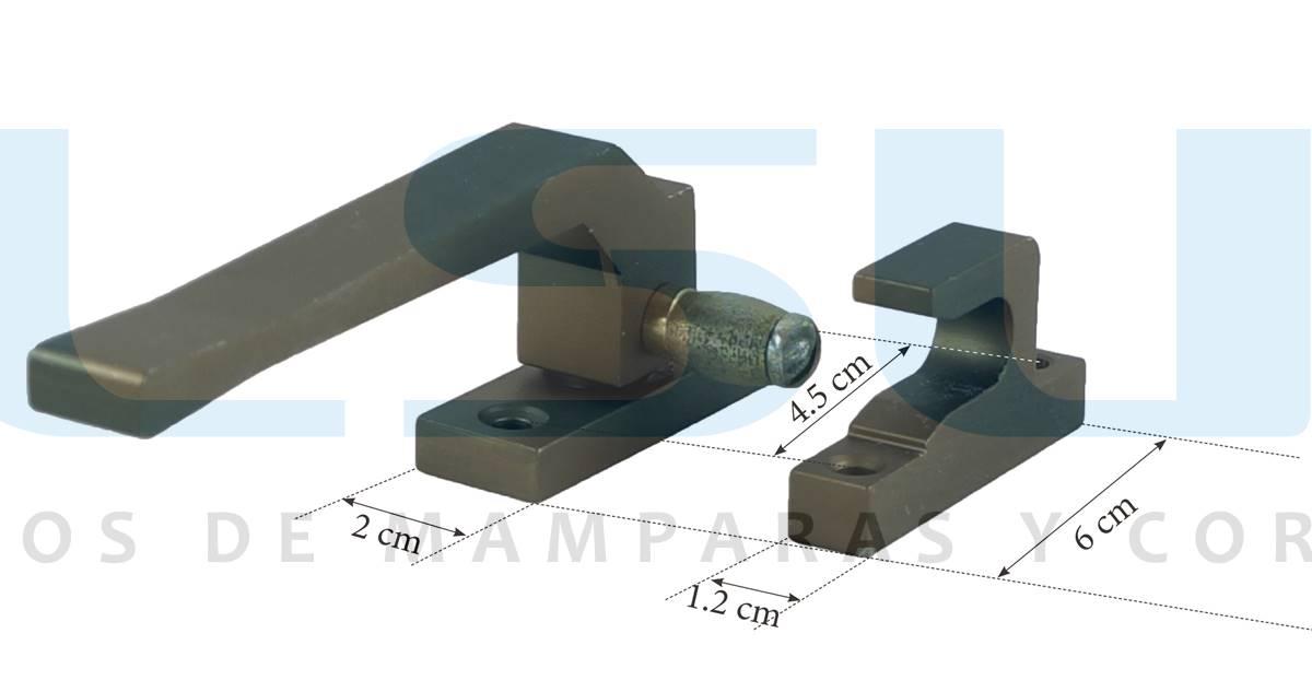 Cierre presión rodillo metálico derecha bronce