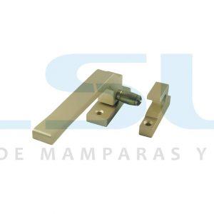 Cierre presión rodillo metálico izquierda oro (1 UNIDAD)