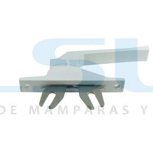 Cremona accionamiento frontal pletina aluminio blanca (1 UNIDAD)