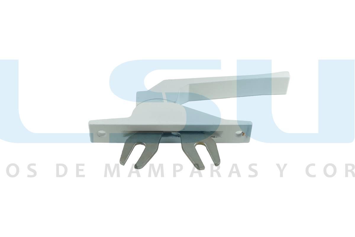 Cremona accionamiento frontal pletina aluminio blanca