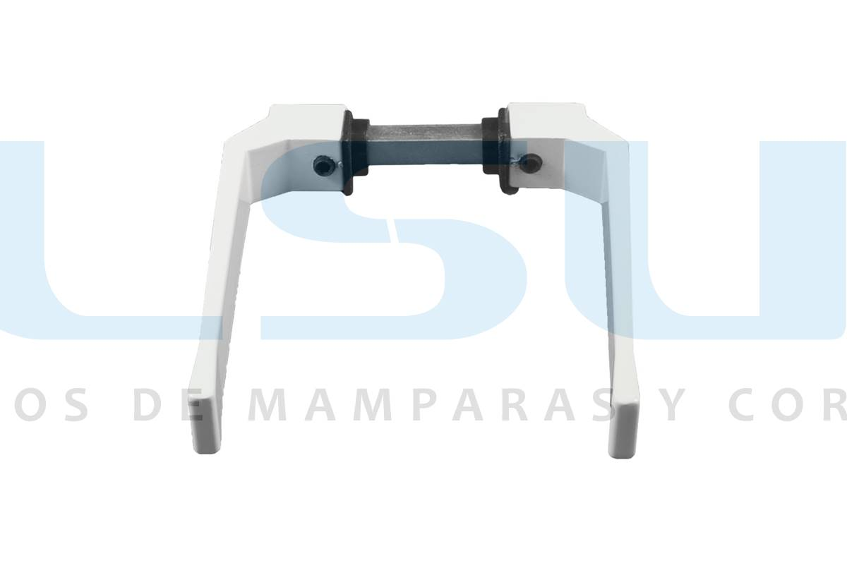 Juego manilla balconera con cuadradillo 8 mm aluminio blanco