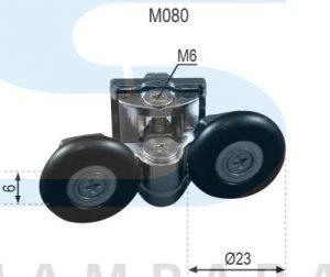 Pinza metálica cromada doble rodamiento cogida tuerca 23 mm bola