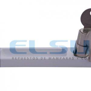 Cierre uñero con bombillo y llave blanco con prolongador 36 mm (1 UNIDAD)