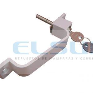 Cierre central asa con bombillo y llave blanco (1 UNIDAD)