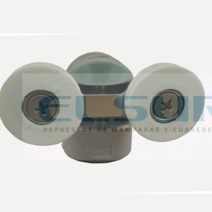 Pinza nylon doble rodamiento 22 mm, pista cóncava M 4 (1 UNIDAD)