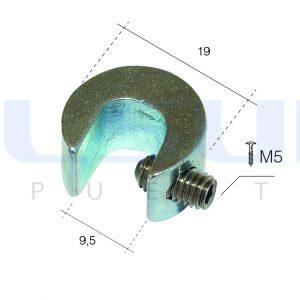 Bloqueador de ventana zincado color plata (4 UNIDADES)