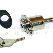 Cierre de centro, pulsador con tapa, color blanco y llaves iguales