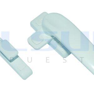 Cierre de presión con pala plana, izquierda, color blanco ( 1 UNIDAD )