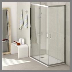Mampara para ducha cuadrante o de esquina