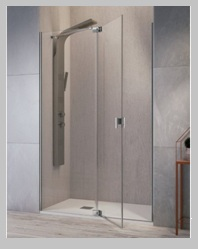 Mamparas para ducha con puerta pivotante