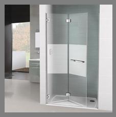 Mamparas para ducha con puerta plegable (dos hojas)