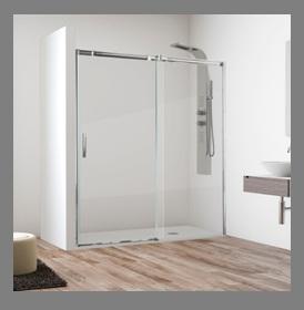 Mamparas para ducha con semi marco